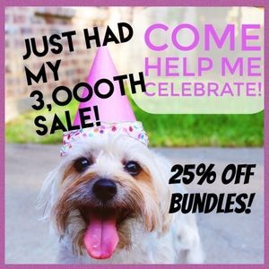 Other - 25% off bundles celebrating 3,000 sales on Posh!